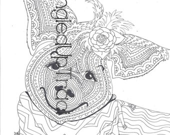 Detailed and intricate elephant zentangle by TangledUpTraci