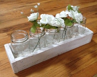 "17"" Pallet Centerpiece Box. Great for the Holidays or any occassion. Fits (5) 1 Pint  Mason Jars."
