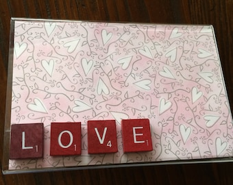 "4x6 Acrylic picture frame ""LOVE"""