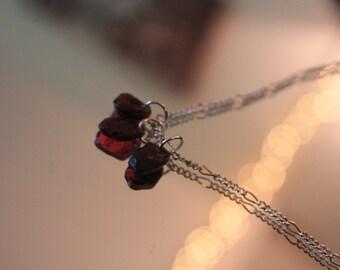Rough Garnet Necklace