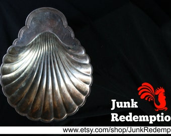 Silver plate shell dish