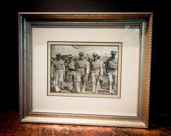Framed Authentic Antique Photograph of General Douglas MacArthur