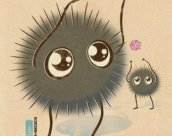 Chibi Ghibli Print - Soot Sprites (Spirited Away)