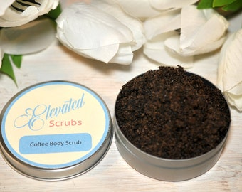 sugar scrub, body scrub, coffee sugar scrub, exfoliating sugar body scrub, coffee scented scrub