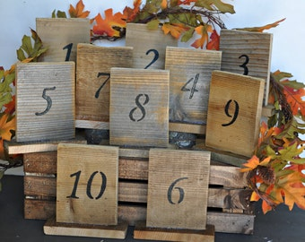 Numbers, table numbers with stand, wood wedding table number, rustic wedding, barn wood table number, country wedding, wedding decor,