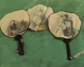 Antique japanese fan with Geishas