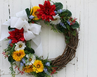 summer wreaths for front doorSummer door wreath  Etsy