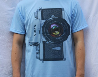 Nikon F Camera T Shirt Design