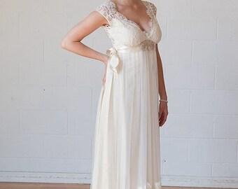 Quenn Anne inspired wedding  dress ,