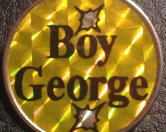 Boy George 1980's Prismatic Badge