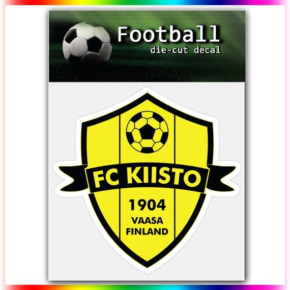 fc kiisto finland uefa football logo decal self by stickerforfun. Black Bedroom Furniture Sets. Home Design Ideas