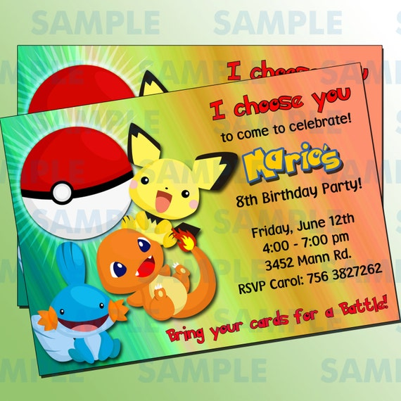 Pokemon Birthday Party Printable Invitations Page Three Birthday - Birthday party invitation in spanish