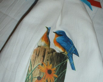 Blue Birds Tea towels - FREE SHIPPING