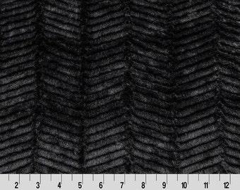 Black Ziggy Minky Fabric by the Yard // Shannon Fabrics
