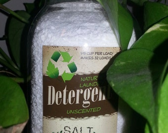 All Natural  Unscented Laundry Soap