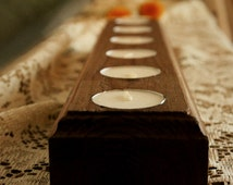Rustic Tea Light Candle Holder - Handmade - HomeDecor - Wedding - Gift