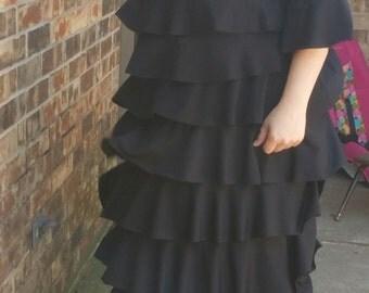 women's ruffled dress