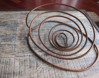 Coffee Table Copper Basket