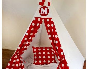 Personalised Polkadot Tee Pee Play Tent