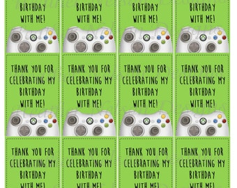 Video Game Favor Tags or Stickers