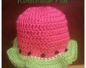 Watermelon Crochet Sunhat