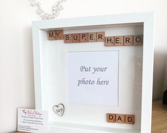 Scrabble frame Father's Day