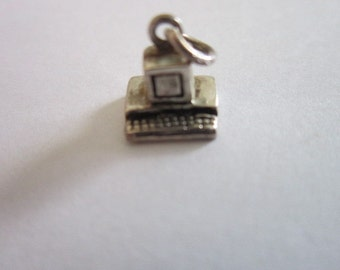 Sterling Silver 3D Vintage Computer CHARM