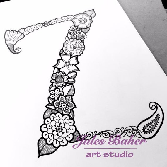 Digital Coloring Page Letter Z From Letter