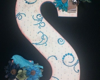 Embellished Initial Wall Hanging
