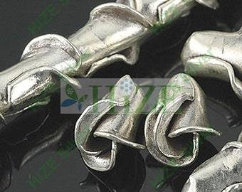 HIZE SB099 Thai Karen Hill Tribe Silver Budding Rose Flower beads 8mm (8)