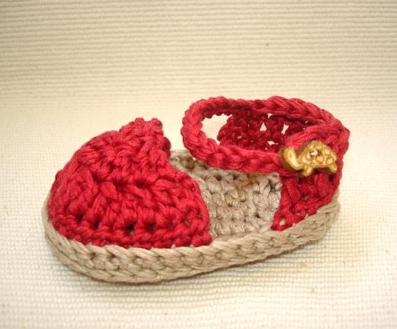 Crochet Baby Elf Slippers Pattern Free : crochet baby espadrilles sandals crochet babies kids ...