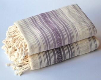 2 Handwoven Linen Towel -  TURKISH TOWEL- PESHTEMAL -Towel Set