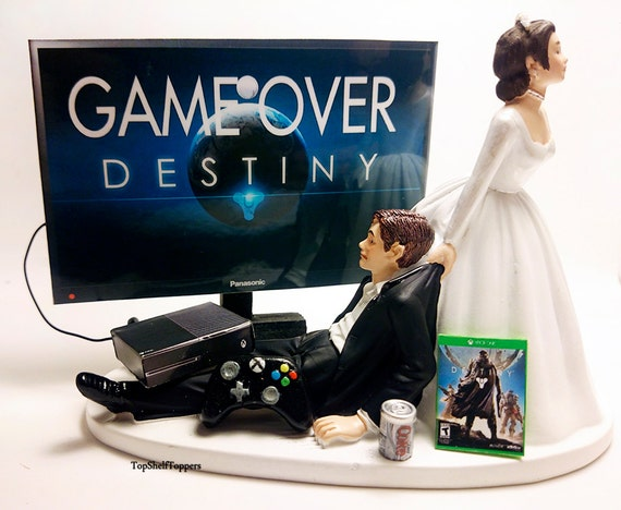 xbox one wedding cake wedding cake topper dest and groom 27673
