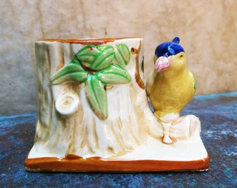 Ceramic Bird Planter, Made In Japan