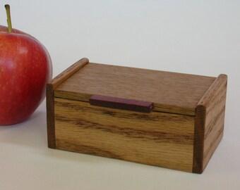 Small Oak Wood Box
