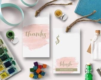 Pink Printable Swing Tag   Blush   Shop tag, store price card, thank you card, hang tag   DIGITAL   Print at Home DIY Tag
