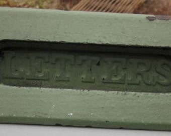 Green Cast Iron Letter Slot