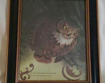An Owl Hoots