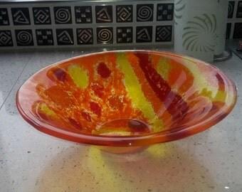summer glass bowl