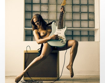 Guitar (Jorgie) 20x20 inch limited edition print
