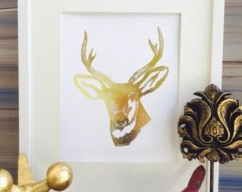 animal deer decor, deer head wall decor, Office wall Art, Deer Print, deer trend, antler decor, deer antlers poster