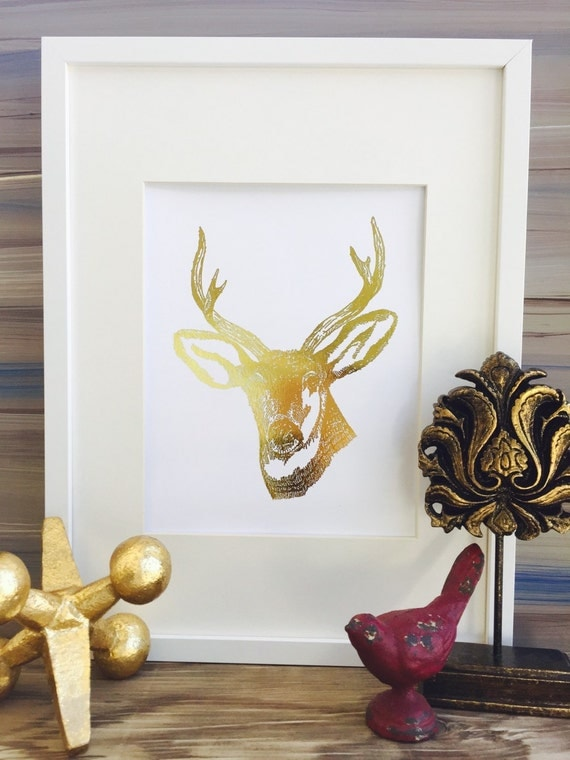 Animal deer decor deer head wall decor office wall art deer for Animal head wall decoration