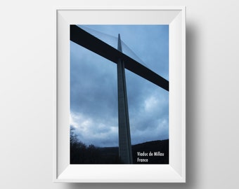 Viaduc de Millau, France Photography Poster