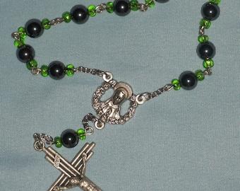 SALE  Single Decade Hematite Rosary