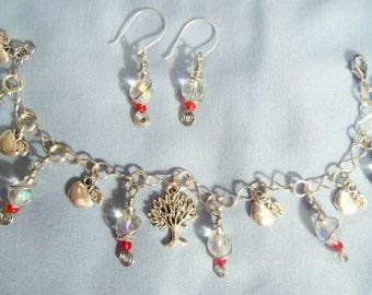NEW Charm Bracelet and Earring set