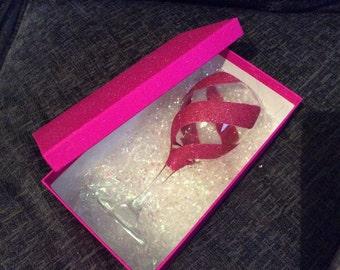 Triple Swirl Glitter Wine Glass (gift box not included)