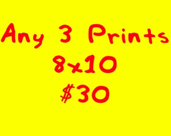 SPECIAL 8x10 and 5x7 Prints