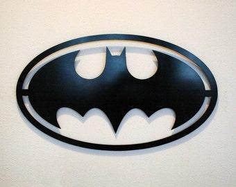 Batman Logo - Floating Metal Wall Art