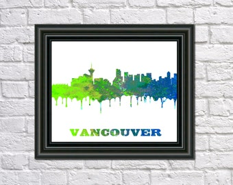 Vancouver skyline Etsy