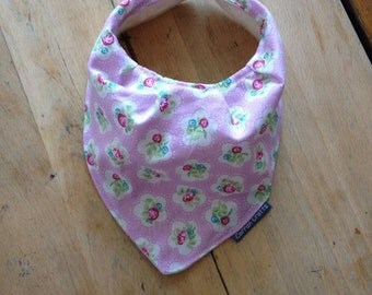 Cute Pink Flowery Baby Bandana Dribble Bib